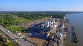 De elektrische centrale luchtvideo van New Jersey stock videobeelden