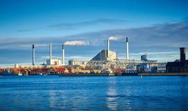 De Elektrische centrale van Amagerbakke, Kopenhagen, Denemarken royalty-vrije stock afbeeldingen