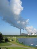 De elektrische centrale van de bruinkool Royalty-vrije Stock Foto