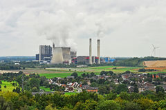De elektrische centrale van de steenkool Stock Foto