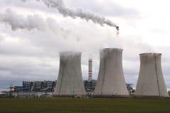 De elektrische centrale van de steenkool Royalty-vrije Stock Afbeeldingen