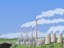De elektrische centrale van de steenkool royalty-vrije illustratie
