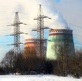 De elektrische centrale van de stoom stock foto