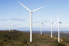 De elektrische centrale van de wind Stock Afbeelding