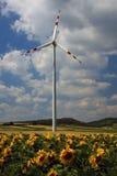 De Elektrische centrale van de wind stock afbeeldingen