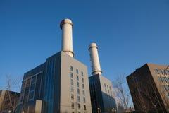 De Elektrische centrale van het gas Stock Afbeeldingen