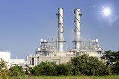 De elektrische centrale van Streem met verontreiniging Stock Fotografie