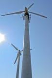 De elektrische centrales van de wind Stock Afbeeldingen