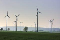 De elektrische centrales van de wind Royalty-vrije Stock Fotografie