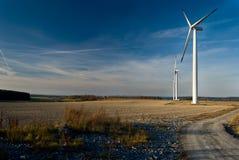 De elektrische centralesscène van de wind Royalty-vrije Stock Fotografie
