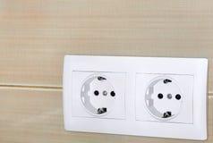 De elektrische contactdoos van 220v Royalty-vrije Stock Foto's
