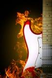 De elektrische gitaar van de brand. Royalty-vrije Stock Foto