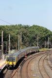 De elektrische Hoofdlijn met meerdere eenheden van de treinenwestkust Royalty-vrije Stock Afbeeldingen