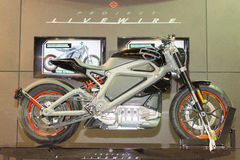 De Elektrische Motorfiets van Harley-Davidson Project LiveWire Stock Afbeelding