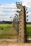De elektrische pijler van Auschwitz royalty-vrije stock afbeelding