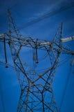 De elektrische pijler van de hoogspanning Stock Foto
