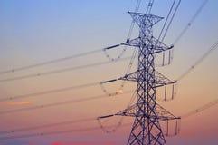 De elektrische post van de hoogspanningsmacht Royalty-vrije Stock Fotografie