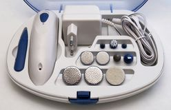 De elektrische Reeks van de Manicure en van de Pedicure Stock Foto's
