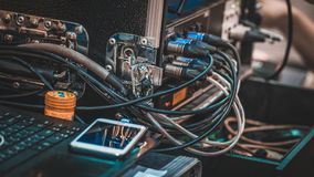 De elektrische Schakelaar van de Stop Gezamenlijke Contactdoos stock afbeelding