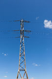 De Elektrische Toren van de hoogspanning Royalty-vrije Stock Fotografie