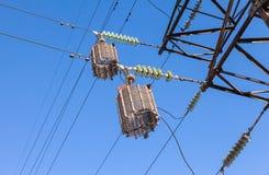 De Elektrische Toren van de hoogspanning Stock Foto