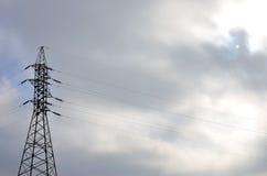 De Elektrische Toren van de hoogspanning De pyloon van de elektriciteitstransmissie Royalty-vrije Stock Fotografie