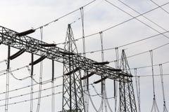 De Elektrische Toren van de hoogspanning Machtsconcept Royalty-vrije Stock Fotografie