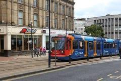 De elektrische tram van Sheffield stock foto's