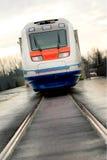 De elektrische treinen van de hoge snelheid stock foto's