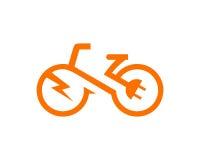 De elektrische vector van het fietsmalplaatje stock afbeelding