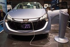 De Elektrische wijze van het Concept van Hyundai Royalty-vrije Stock Foto's