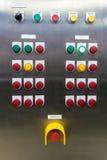 De elektrocontrole van het mechanismepaneel, op installatie en proces contr Royalty-vrije Stock Fotografie