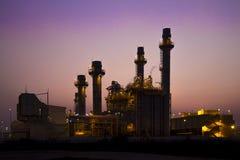 De elektroelektrische centrale van de gasturbine Stock Foto's