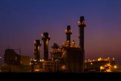 De elektroelektrische centrale van de gasturbine Royalty-vrije Stock Fotografie