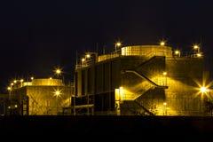 De elektroelektrische centrale van de gasturbine Royalty-vrije Stock Foto