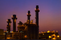 De elektroelektrische centrale van de gasturbine Royalty-vrije Stock Afbeeldingen