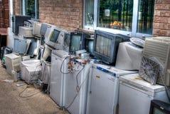 De elektrogoederen van het afval Stock Foto's