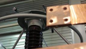 De Elektroisolatieclose-up stock videobeelden
