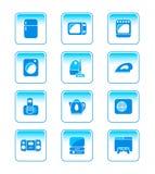 De elektronika pictogram-reeks van het huis stock illustratie