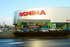 De elektronikaverkoper Ogmina van de Vilniusstad in Zirmunai-district Stock Foto's