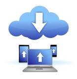 De elektronische aansluting van de wolk Stock Afbeelding