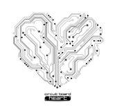 De elektronische achtergrond van de harttechnologie stock illustratie