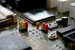 De elektronische delen van de computer stock afbeeldingen