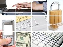 De elektronische en Zaken van Internet Stock Foto