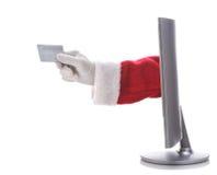 De Elektronische handel van de kerstman Stock Foto