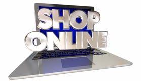De elektronische handelopslag van de winkel Online Website Stock Afbeelding