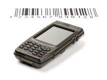 De elektronische handscanner van de computer van streepjescodes Royalty-vrije Stock Foto
