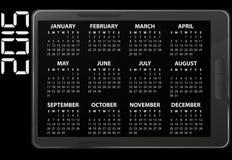 de elektronische kalender van 2015 Royalty-vrije Stock Foto's