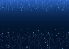 De elektronische vectorautomatisering van de industrieinternet, lijnen, binair getal, bouw, weg; vector illustratie