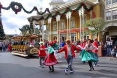 De ElektroParade van de hoofdstraat in Disney Orlando Stock Foto